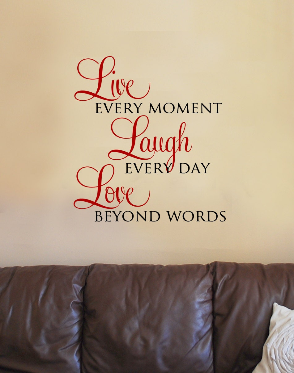 Live laugh love vinyl wall art decal by designstudiosigns for Live laugh love wall art