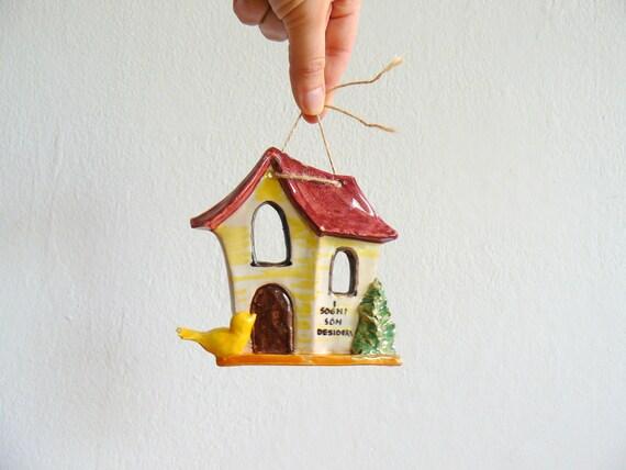 Vintage ceramic little home. home sweet home