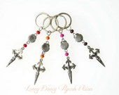 One Santiago Cross Keychain, St James Cross Keyring, Your Choice of Color