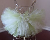 Baby Lime Green With Vanilla Tutu Skirt