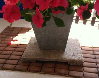 Planter--Green Porcelain Tile