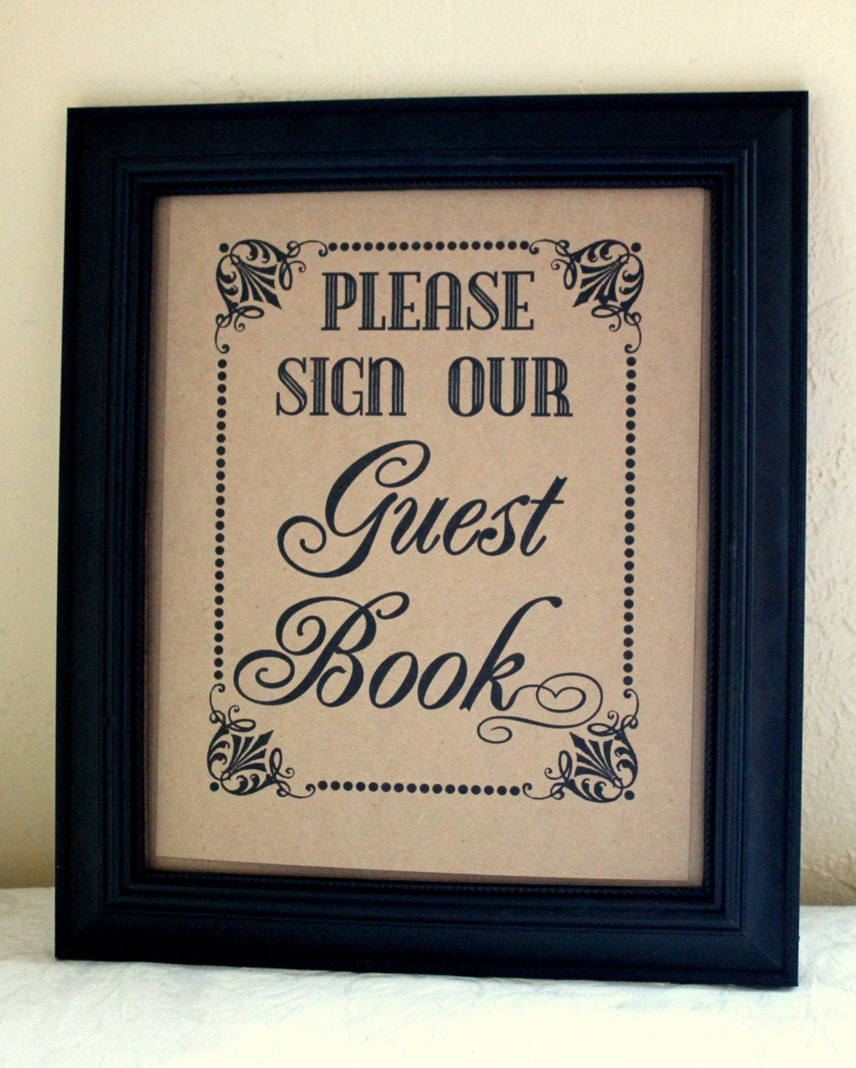 Wedding Guest Book Where It S Your Guests That Sign Their: Please Sign Our Guest Book Guest Book Wedding Sign Single
