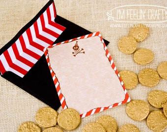 Pirate Party Thank You Notes- Printable- Parchment Color