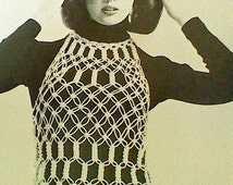 Six (6)Vintage Macrame Women's Tops, Bag, and Shoe Patterns