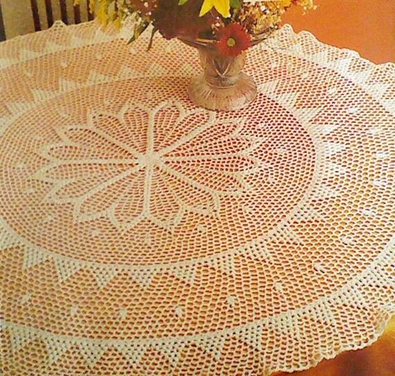 Vintage Crochet Desert Flower Tablecloth Pattern by ...