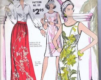 Vintage Alfred Shaheen 101 Pattern 3 styles Hawaiian unopened uncut