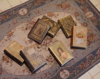 Dollhouse Miniature set of victorian book