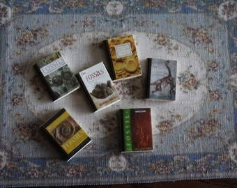 Dollhouse Miniature set of  6 fossil's  books