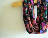Infinity Scarf Circle Scarf - Jewel Toned