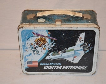 Vintage 1977 NASA Space Shuttle Orbiter Enterprise Metal Lunchbox