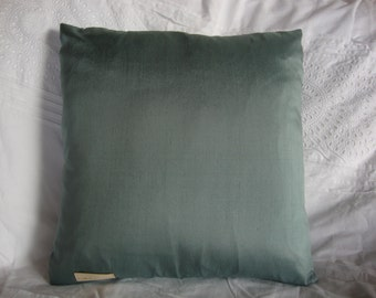 "Blue silk pillow cover- Set of two- 16""x16"""