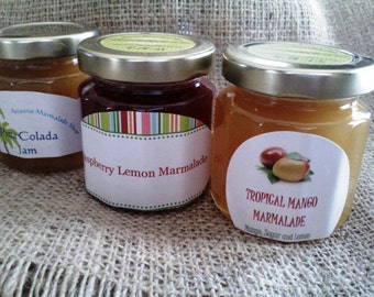Jamm'n Gift Pack/ Holiday Sampler Gift Set /READY to SHIP or Made TO Order/ Three 4 oz Jars