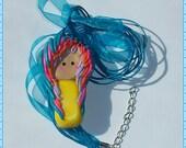 Neon Scene Chibi Necklace