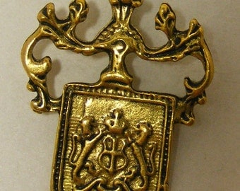 Classic Brass crest pendant  3 for 3.99