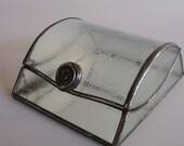 Glass jewelry box - mid modern style pattern