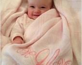 Personalized Monogrammed Baby Blanket - FREE MONOGRAM