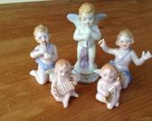 Vintage Group of Angels, Cherubs Musical Figurines