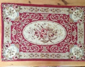 Vintage Aubusson Needle Point Rug RESERVED FOR KATHY