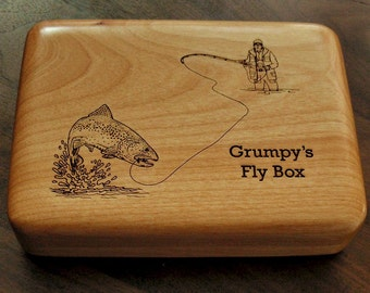 FLY FISHING BOX - Personalized plus Artwork
