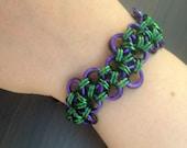 Joker Chainmaille Bracelet Simple variation. Batman comic book inspired.