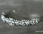 25% OFF SALE Amber - Bridal headband, wedding accessory, tiara, wedding headpiece, crystal headband, bridal hair piece