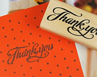 Wooden Rubber Stamp - Rubber Stamp - Diary Stamp - Blessing Stamp - Thank You 03
