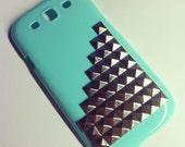 Samsung Galaxy S3 SIII Mint Studded Steampunk case