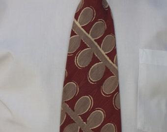 Vintage Bold Motif Menswear Necktie