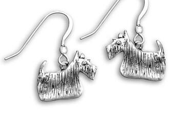 Sterling Silver Scottie Earrings