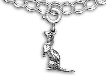 Sterling Silver Ferret Charm