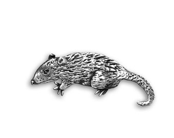 Sterling Silver Possum Pin