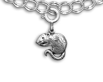 Sterling Silver Rat Charm