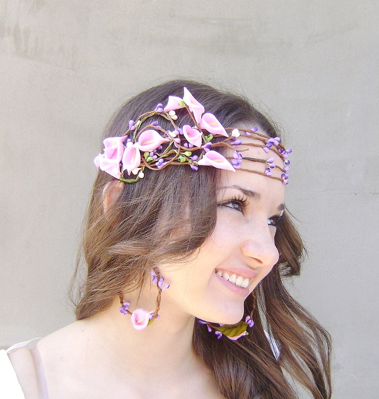 Wedding Crown Hair: Whimsical Flower Crown Bridal Hair Crown Wedding Flower Head