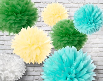 Tissue Paper Pom Poms Set of 30