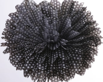 Black - White Polka Dot 1 Large tissue paper pom poms