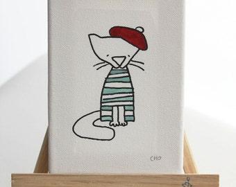 personalized original canvas art - le mew