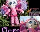 Mini Misfit handmade doll pink Flower Fairy Flora