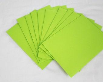 10 Neon Green 4x6 Invitation Envelopes - set of 10 - size A6 4-3/4 x 6-1/2