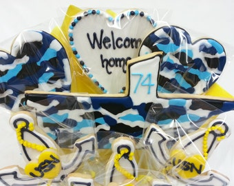 Military Homecoming Gift Idea - Camo Cookie Bouquet