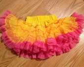 Pettiskirt tutu - yellow pink and orange