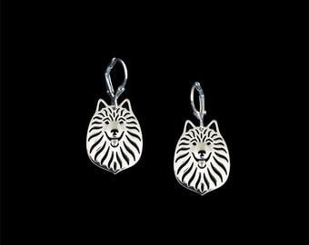 German Spitz earrings - sterling silver.