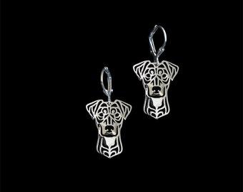 German Pinscher earrings - sterling silver
