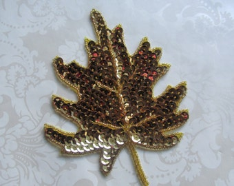 Sequin Leaf / Leaf Applique / Applique /