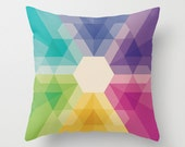 """20""""x20"""" Colorful Geometric Throw Pillow Fig. 021 COVER ONLY"""