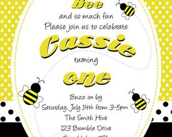 Bumblebee Invitation - Digital