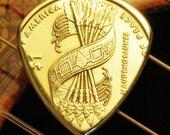USA 'Peace Arrows' Gold Dollar Coin Guitar Pick ... Free Worldwide Shipping