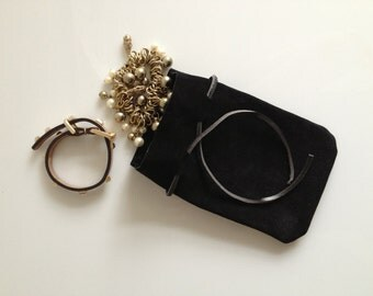 Leather pouch, iphone sleeve, clutch, leather iphone sleeve, Drawstring leather pouch, Coin Purse