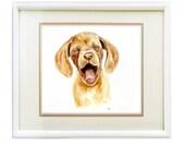 Puppy watercolor Dog illustration, animal art