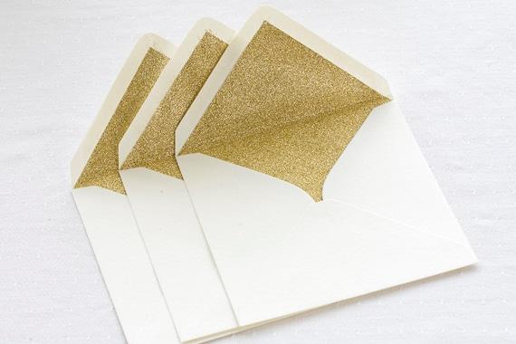 gold glitter lined envelopes sparkly gold envelopes for