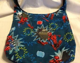 Spidey Hobo REVERSIBLE CrossBody Bag / purse